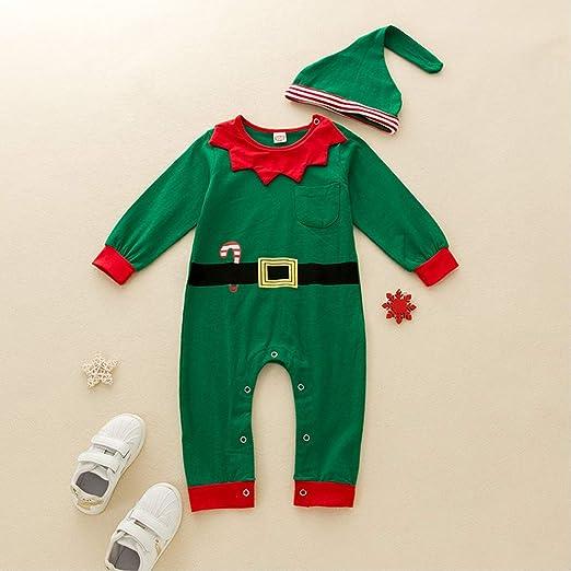 Carolilly Unisex Baby My 1st Christmas Weihnachten Langarm Jumpsuit Schlafanzug mit Weihnachtsmann Schneemann Herbst Winter