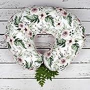 Floral Boppy Cover, Handmade Nursing pillow, Cover With Zipper, Girl Boppy cover