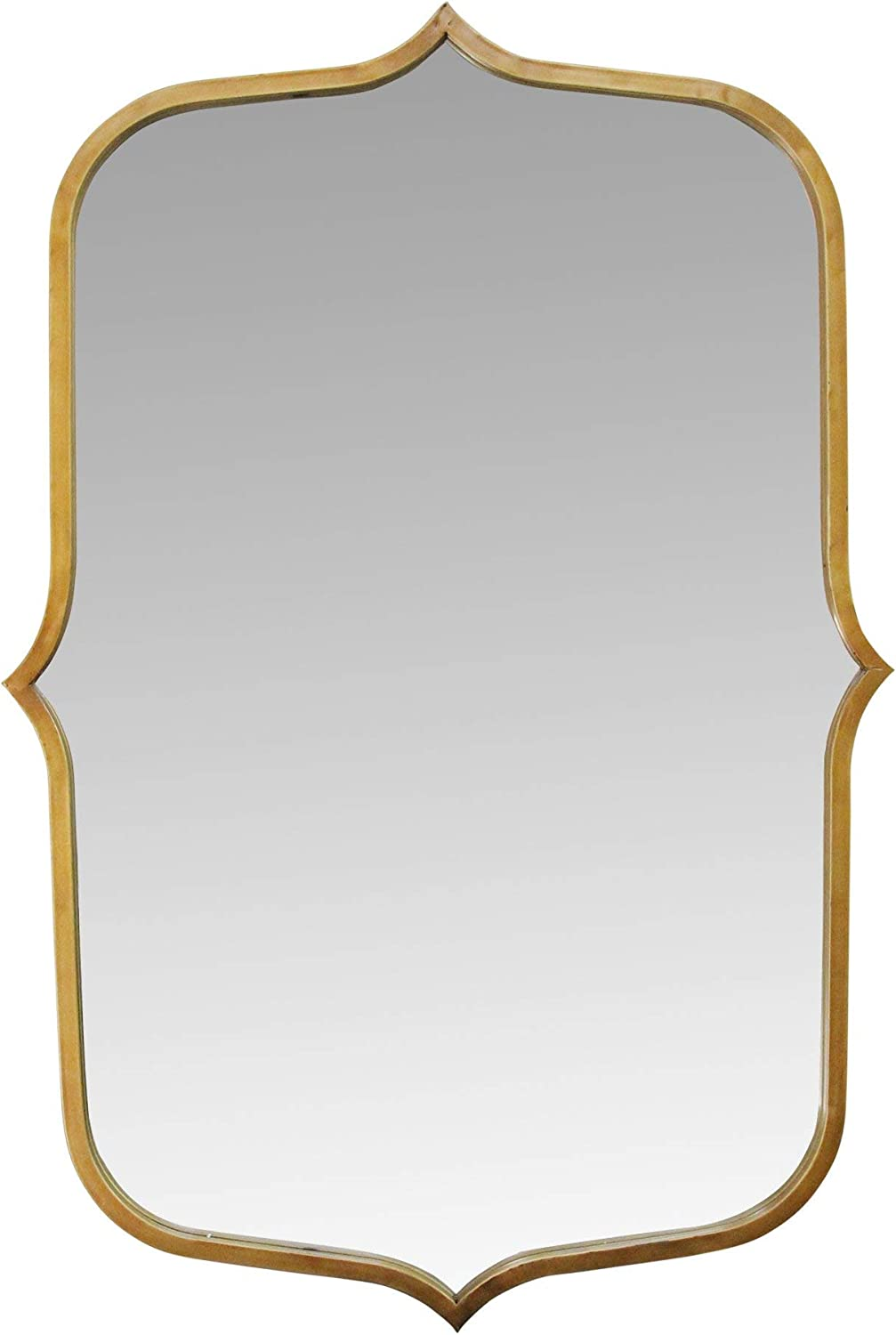 "Stratton Home Décor Stratton Home Decor 36"" Hillary Metal Mirror, Antique Gold"