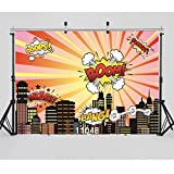 WOLADA 7x5ft Vinyl Photography Background Backdrops Child Baby Shower City Super Hero Board Photo Studio Prop 11048