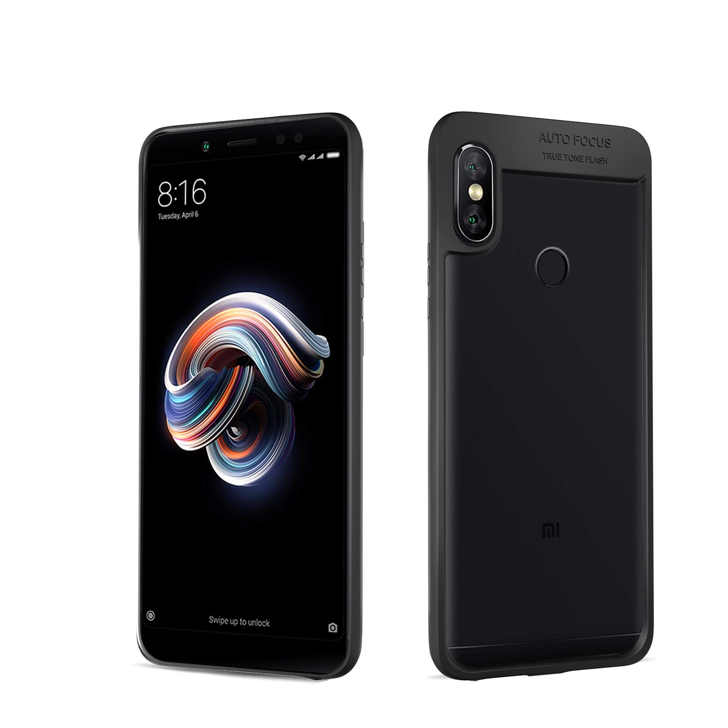 new product 7e7fd d34ee CELLBELL® Autofocus Shock Proof Back Cover for Xiaomi Redmi Note 5  Pro(Black)
