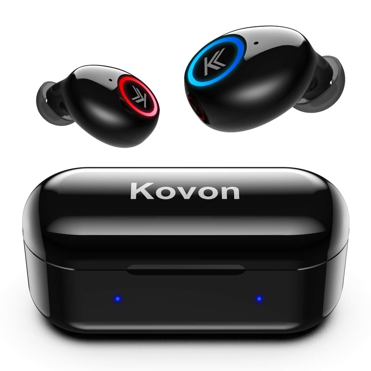 Bluetooth Headphones, Kovon Bluetooth 5.0 Wireless Earbuds Deep Bass Stereo Hi-Fi Sound in-Ear Design Wireless Headphones Sweatproof Noise Cancellation Headsets with Built-in Mic and Charging Case