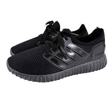 c96be4b6ccd5ab AiSi Herren Sportschuhe Runners Sneakers Laufschuhe Turnschuhe  Straßenlaufschuhe - Atmungsaktives Mesh - schwarz Größe 39