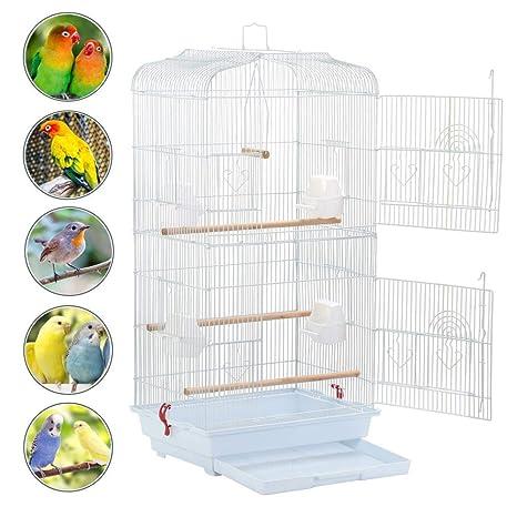 Yaheetech Jaula para Pájaros Jaula Metálica para Mascota Aves ...