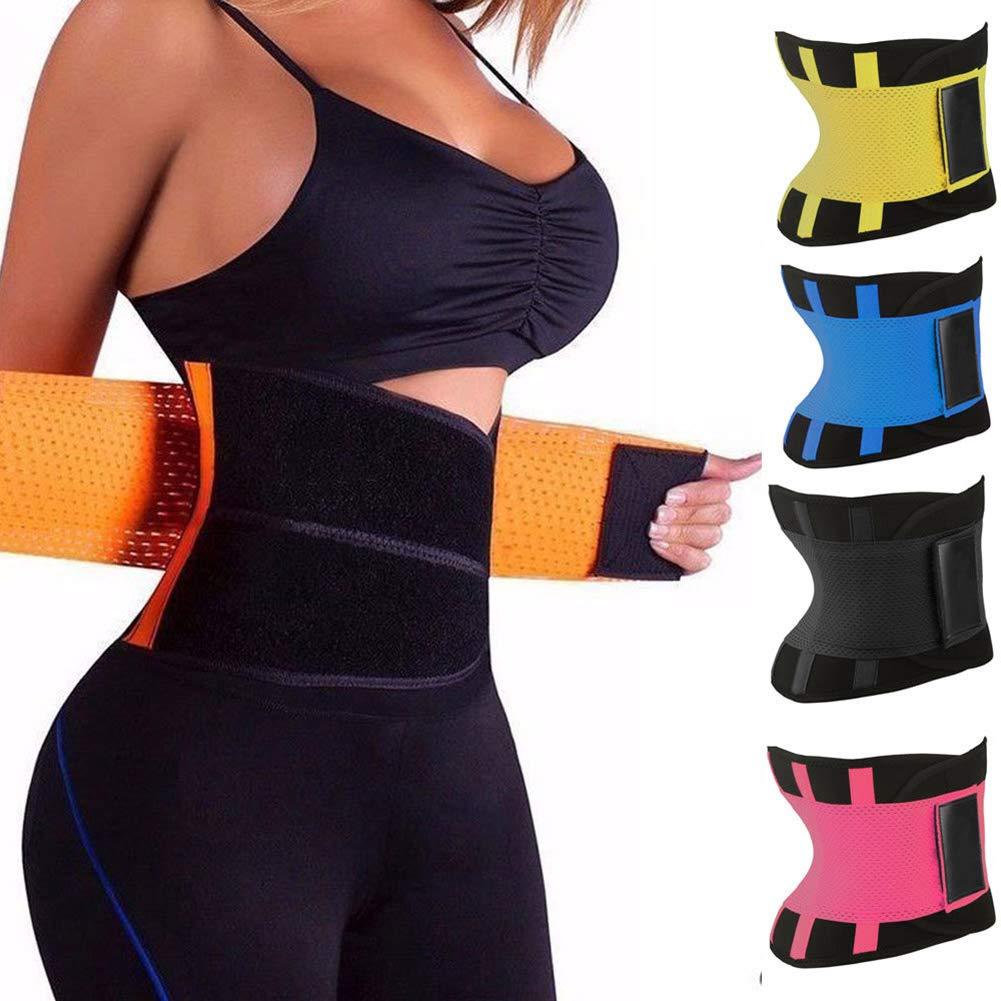 Faja Reductora para Adelgazamiento de la Cintura 2XL Unisex para Mujer Control de la Cintura Abboard Amarillo cors/é Moldeador de Abdomen promueve la p/érdida de Peso