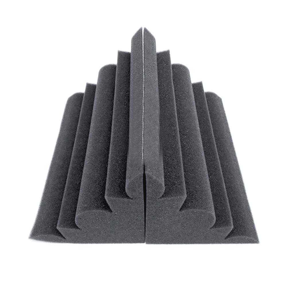 Surenhap Trampas de Graves Ranurado Absorci/ón De Sonido Acoustic Broadband Studio Absorption Foam Panel