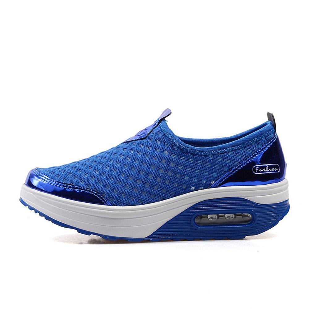 Women's Breathable Mesh Sandals,Slippers,Beach Footwear,Walking,Anti-Slip B07DV68ZDZ 36/5.5 B(M) US Women|Blue