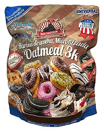 Max Protein Oatmeal Harina Avena, Termo-Activada - 3000 gr: Amazon.es: Salud y cuidado personal