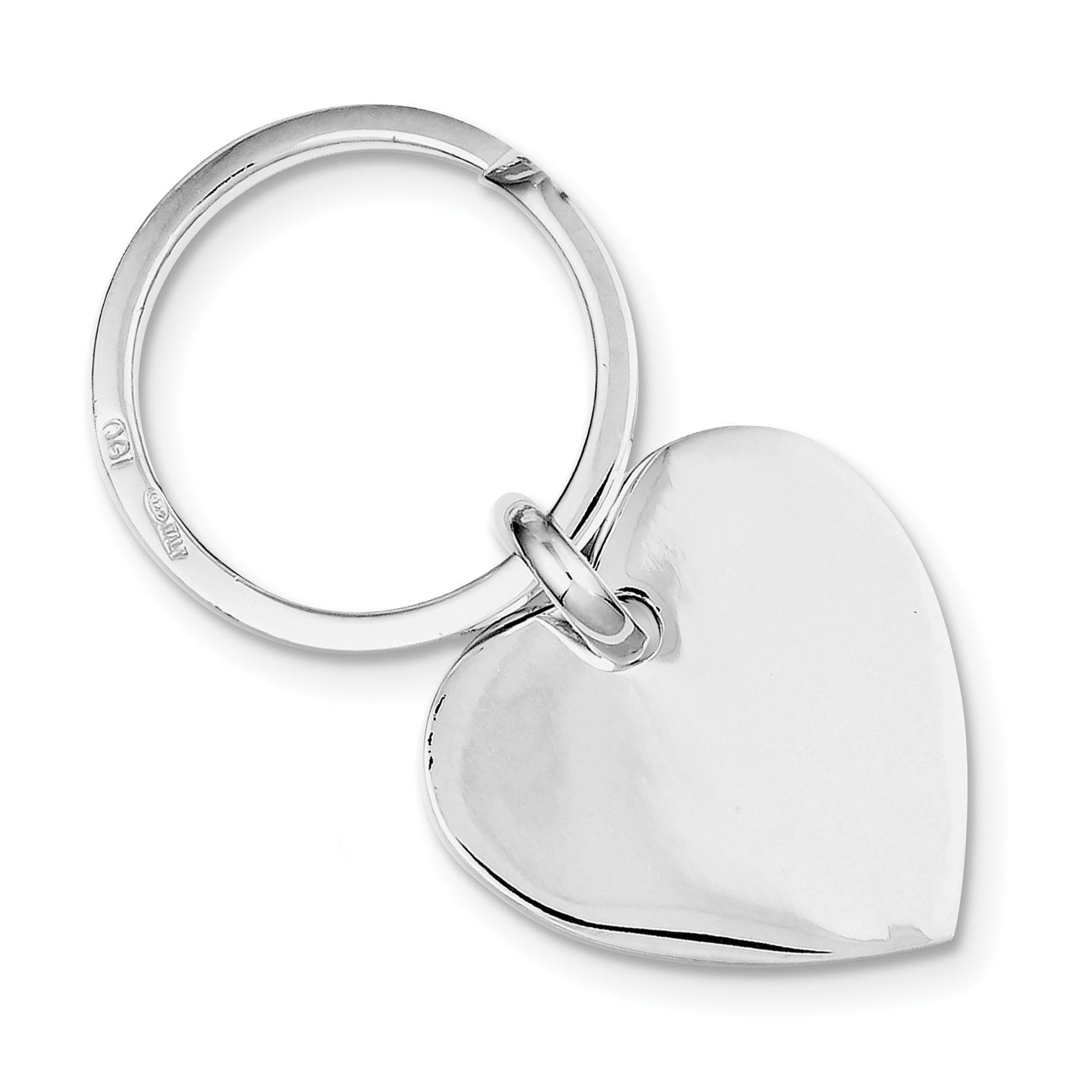 925 Sterling Silver Heart Key Ring