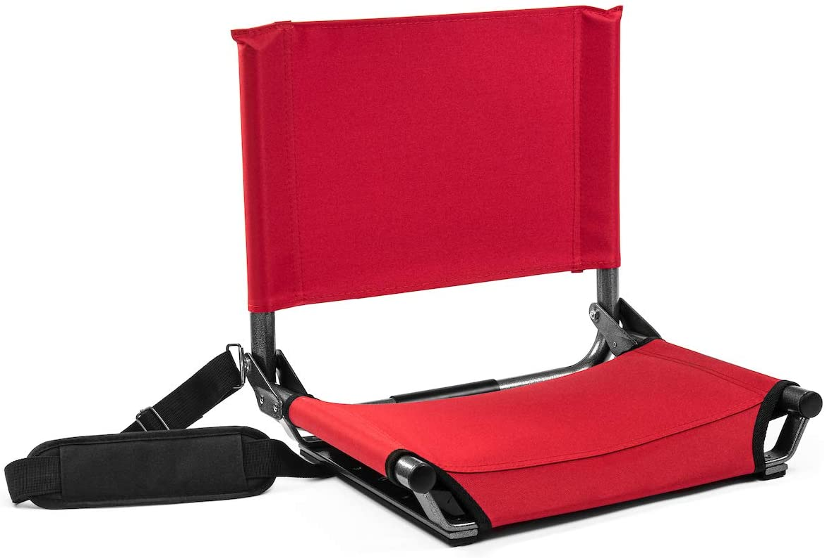 Cascade Mountain Tech Portable Folding Metal Stadium Seats for Bleachers