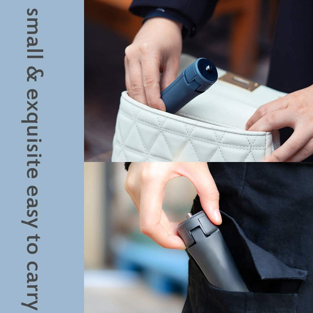 Tabletop Holder Tripod Compatible with Gopro Hero 8 Black DJI Osmo Mobile 2 3 Osmo Pocket Osmo Action ZHIYUN Smooth 4 Q2 Fully Adjustable Angle /& Rotation Cell Phone Tripod Gray Mini Tripod