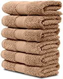 Restoration Hardware Bathroom 6 Piece Washcloth Set. 2017(New Collection). Premium Quality Turkish Towels. Super Soft, Plush and Highly Absorbent. Set Includes 6 Pieces of Washcloths. By Maura. (Washcloth - Set of 6, Sand)