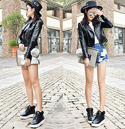 1fe6ea8f0c LIANGXIE Ms Botas de Nieve Bota de Invierno Sra. Moda Coreana Estudiantes  de Suela Gruesa Warm Plus Velvet Zapatos de algodón de Corte Medio Zapatos  de ...