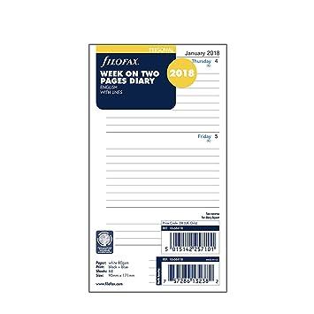Filofax Pocket - Recambio para agenda personal (año 2018, 1 semana en 2 páginas) [español no garantizado].