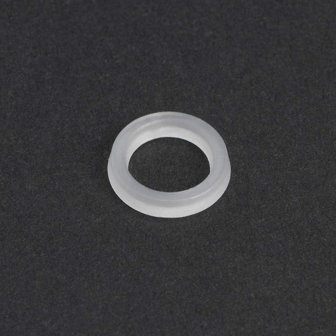 Nylon Flach Unterlegscheiben M6 Schraubenbolzen 18mm OD 0,9mm dick klar sourcing map 300Stk