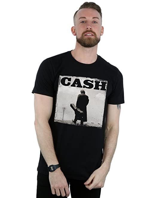Absolute Cult Johnny Cash Hombre Walking Legend Camiseta IVOfRA