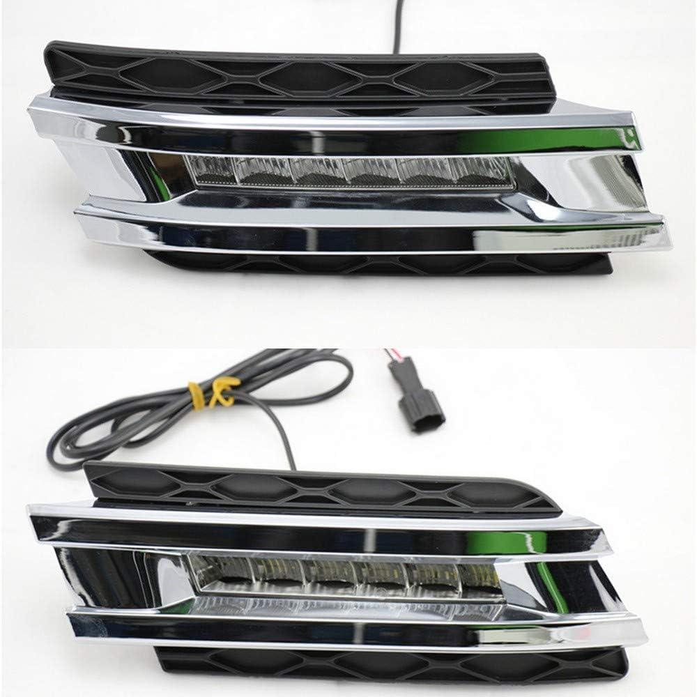 July King Feux de circulation diurnes LED DRL DRL-B-GL450-2006 pour W164 GL Class GL320 GL350 GL420 GL450 GL550 2006-2009,6000K LED avant Feu de brouillard de pare-chocs avec couvercle