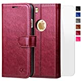 OCASE iPhone 6S Case [Free Screen Protector Included] Leather Wallet Flip Case