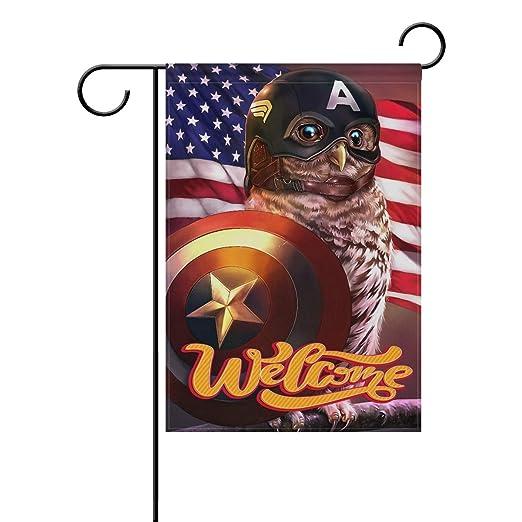 Bandera de jardín con diseño de búhos de los Vengadores de Capitán ...