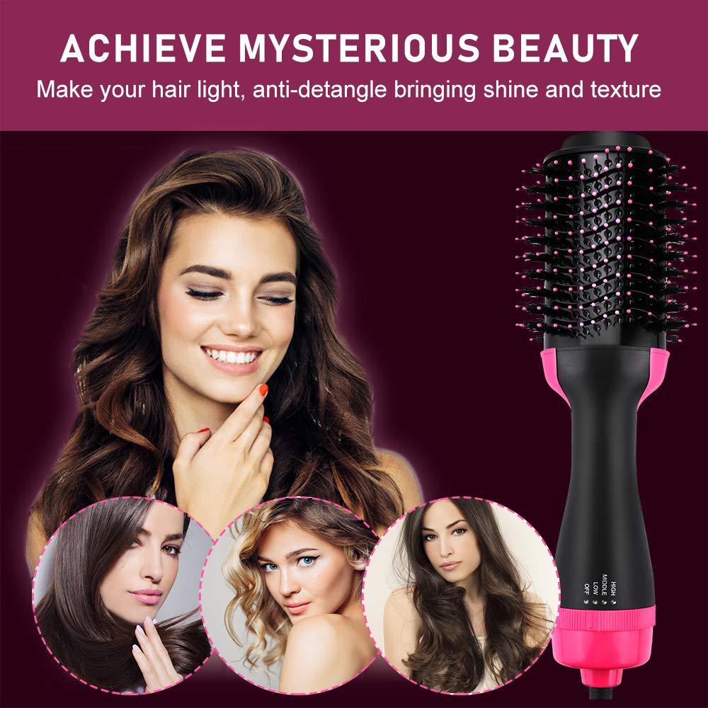 Vindila Hair Dryer Brush, 4-in-1 One Step Hot Hair Styler & Volumizer Feature Anti-Scald Ceramic Electric Blow Curler Negative Ion Straightener,Pink by Vindila (Image #7)
