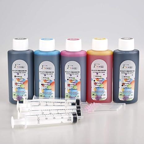 FINK 5 Botellas de Tinta de Calidad Compatible con Brother LC3219 LC3217 LC223 LC123 LC225 LC227 LC125 LC400 LC450 Cartuchos de Tinta Recargables