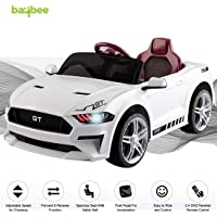 Baybee MASTANG GT Baby Toy Car Rechargeable Battery Operated Ride on car for Kids/Baby with R/C Jeep Children Car Electric Motor Car Kids Cars,Baby Racing Car for Boys & Girls