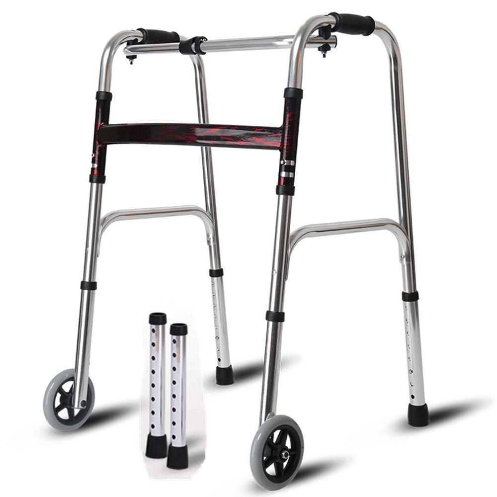 QFFL 松葉杖高齢アルミ歩行補助脚四脚杖チェア歩行補助シニアトロリー4色使用可能 松葉杖ウォーカー ( 色 : B ) B07B2NM7J7 B B