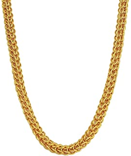 b83d826c6a5a7 Voylla Chain Necklace for Men (Golden)(8907617240169)  Amazon.in ...