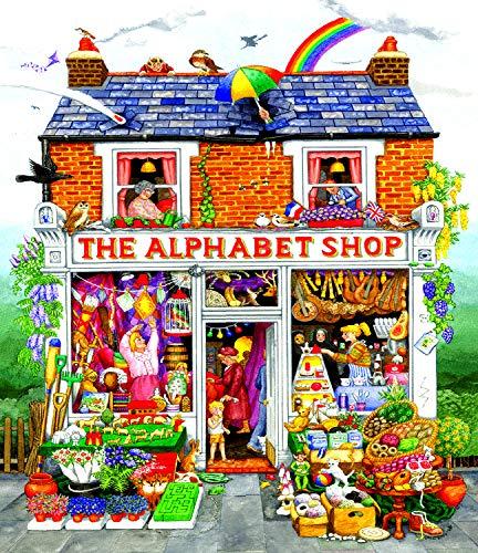 Sunsout 2019 Alphabet House 200 Piece Flowers Jigsaw Puzzle