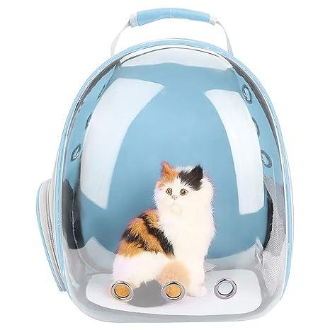 Zerodis Mochila Transparente para Gatos, con diseño de Burbuja Transpirable 360 ° Cápsula