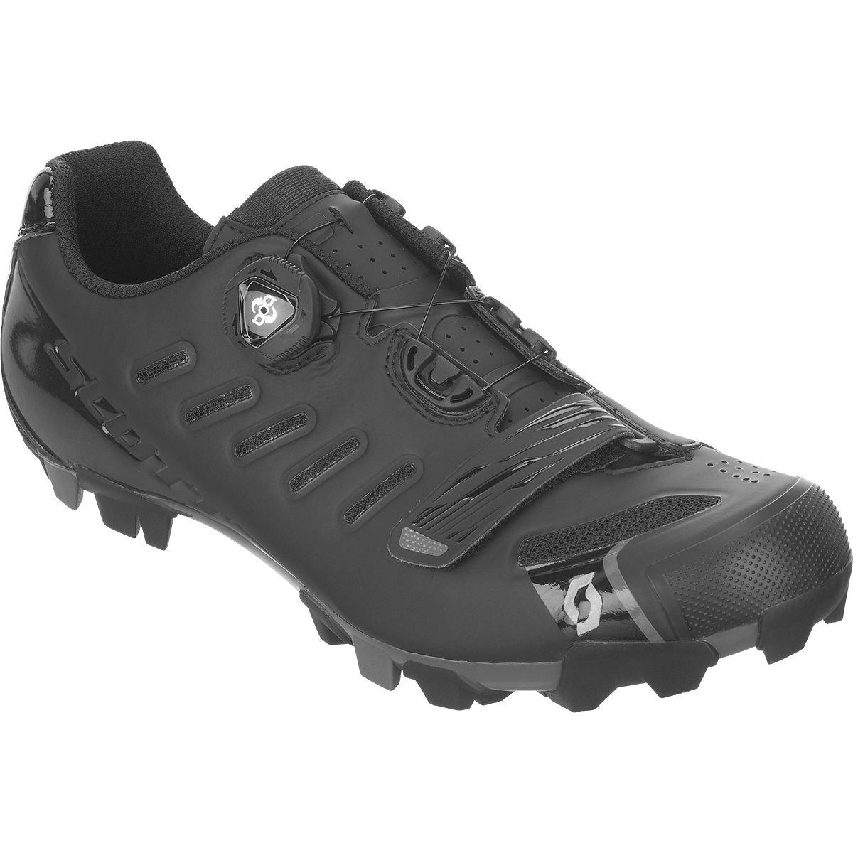 スコットMTB Team Boa Shoe – Men 'sマットブラック/グロスブラック、42.0   B07817QGX2