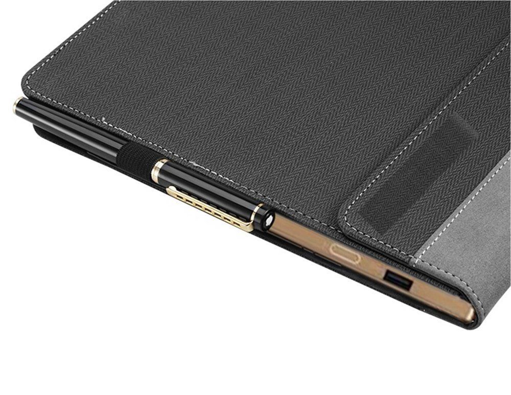 Heycase Compatible for Lenovo ThinkPad X1 Carbon Case Cover 6th Gen & 5th Gen Laptop 14 Inch (NOT FIT 1st Gen/2nd Gen/3rd Gen/4th Gen), PU Leather Folio Stand Protective Hard Shell Case,Grey by Heycase (Image #4)