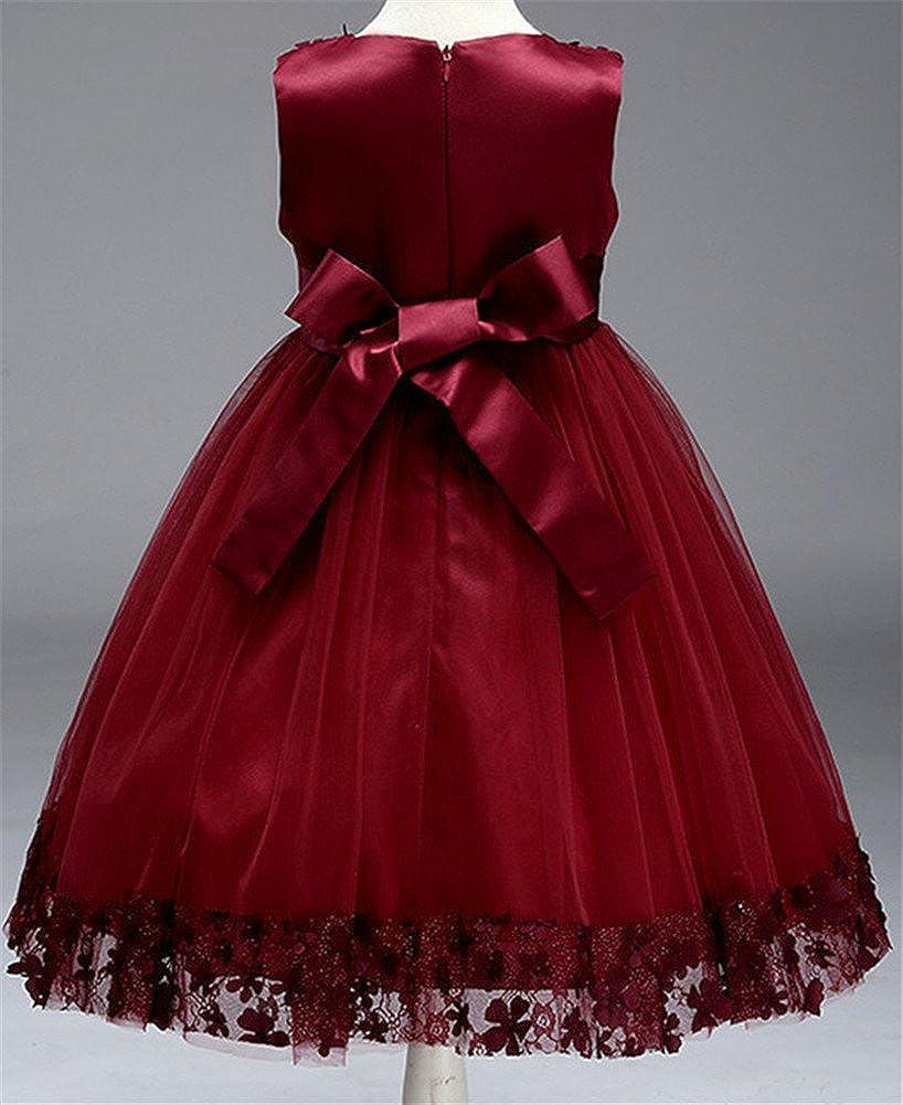 6dcd5cf96 Amazon.com  WEONEDREAM Flower Girl Pageant Dress Girls Elegant Lace ...