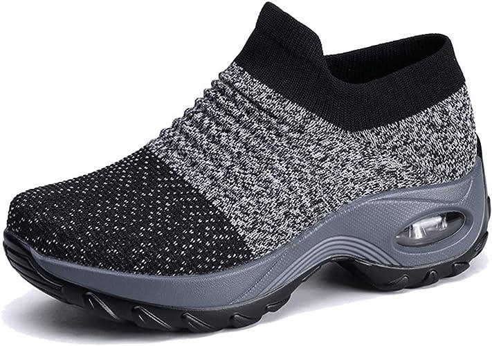 Velukin Zapatos Deporte Mujer Zapatillas Deportivas Correr Gimnasio Casual Zapatos para Caminar Mesh Running Transpirable Aumentar Más Altos Sneakers: Amazon.es: Zapatos y complementos