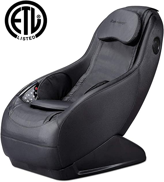 Full Body Electric Shiatsu Massage Chair Fully Assembled Video Gaming Chair with Airbag Massage SL-Track Curved Long Rail Wireless Bluetooth Speaker USB Charger for Office Home Living Room PS4