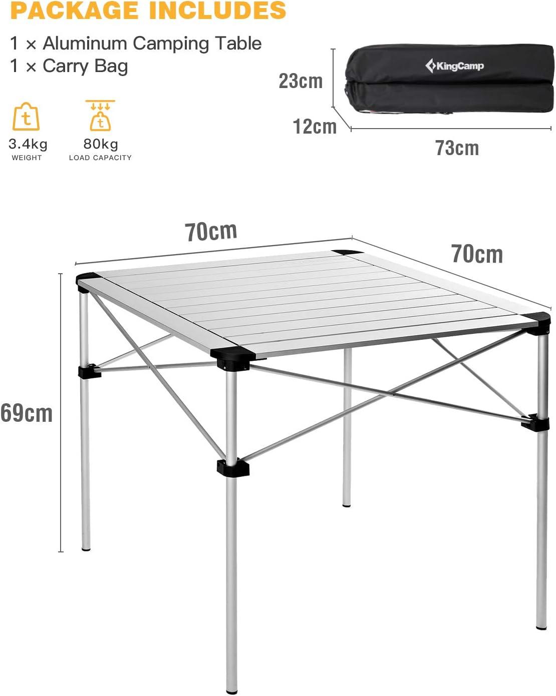 Coleman Camping table pliante 6 en 1 table pliante alu