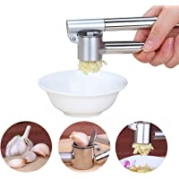 Garlic Press, Garlic Mincer/ Chopper FDA Approved Heavy Duty Stainless Steel Never Rust Useful Kitchen Utensils