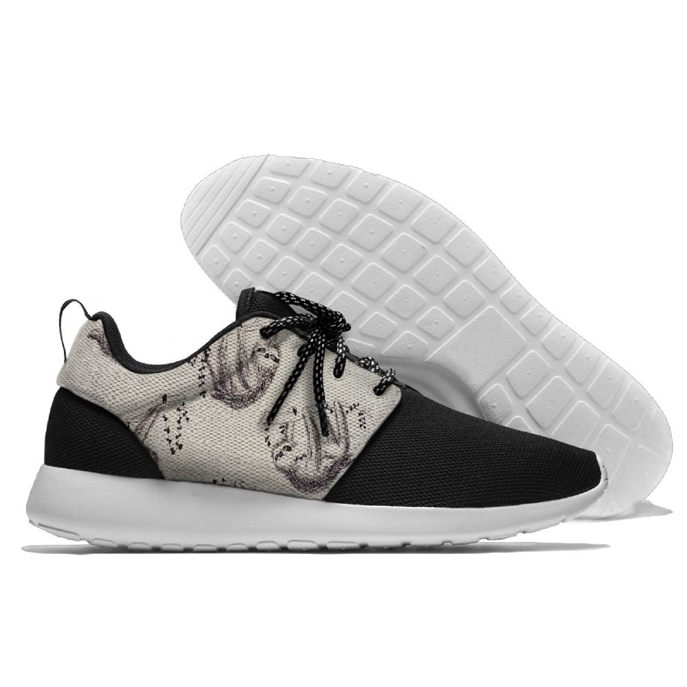 WANING MOON Funny Sloth Mens Leisure Sport Shoes 3D Prints Shoes