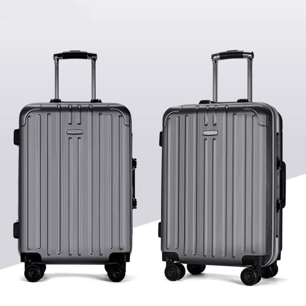 トロリーケースユニバーサルホイールビジネススーツケース24インチアルミフレーム学生荷物20インチ搭乗ケース (Color : グレイ ぐれい, Size : 24 inch)   B07QZK3KDZ
