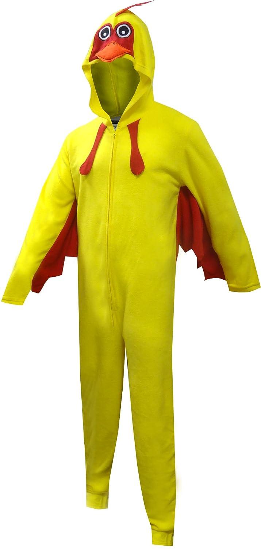 Bioworld Merchandising Men's Chicken Hooded Unisex One Piece Pajama ZU5AL2GEN