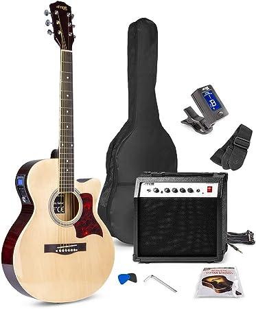 Max Showkit Electro Acoustic Guitar Pack Full Size Amazon Co Uk Electronics