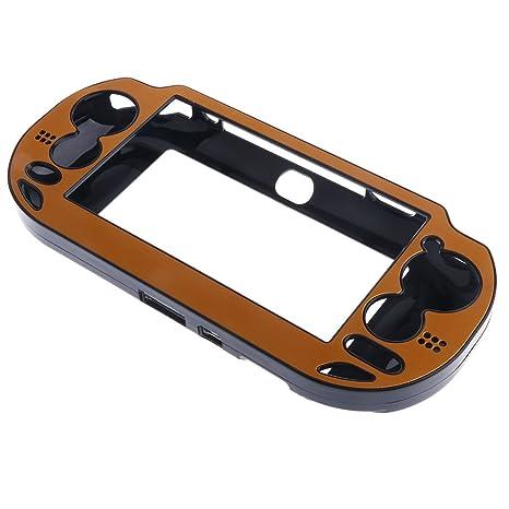 MagiDeal Cubierta Protector Plateada Cepillada Cubierta Caja Carcasa para Sony PS Vita psv1000 - Oro