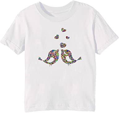 En Amor Aves Niños Unisexo Niño Niña Camiseta Cuello Redondo Blanco Manga Corta Tamaño XL Kids Unisex Boys Girls T-shirt White X-Large Size XL: Amazon.es: Ropa y accesorios