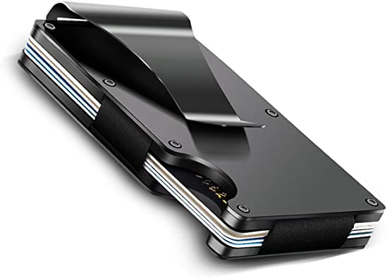 Aluminum Slim Minimalist Front Pocket Wallet Credit Card  Holder RFID Blocking