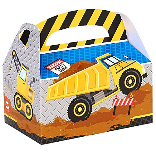 BirthdayExpress Construction Empty Favor Boxes (4) -