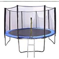 Cama elástica Azul con trampolín de 366 cm (12 ft) y Red Protectora. Soporta hasta 204 Kilos de Peso, Incluye Escalera
