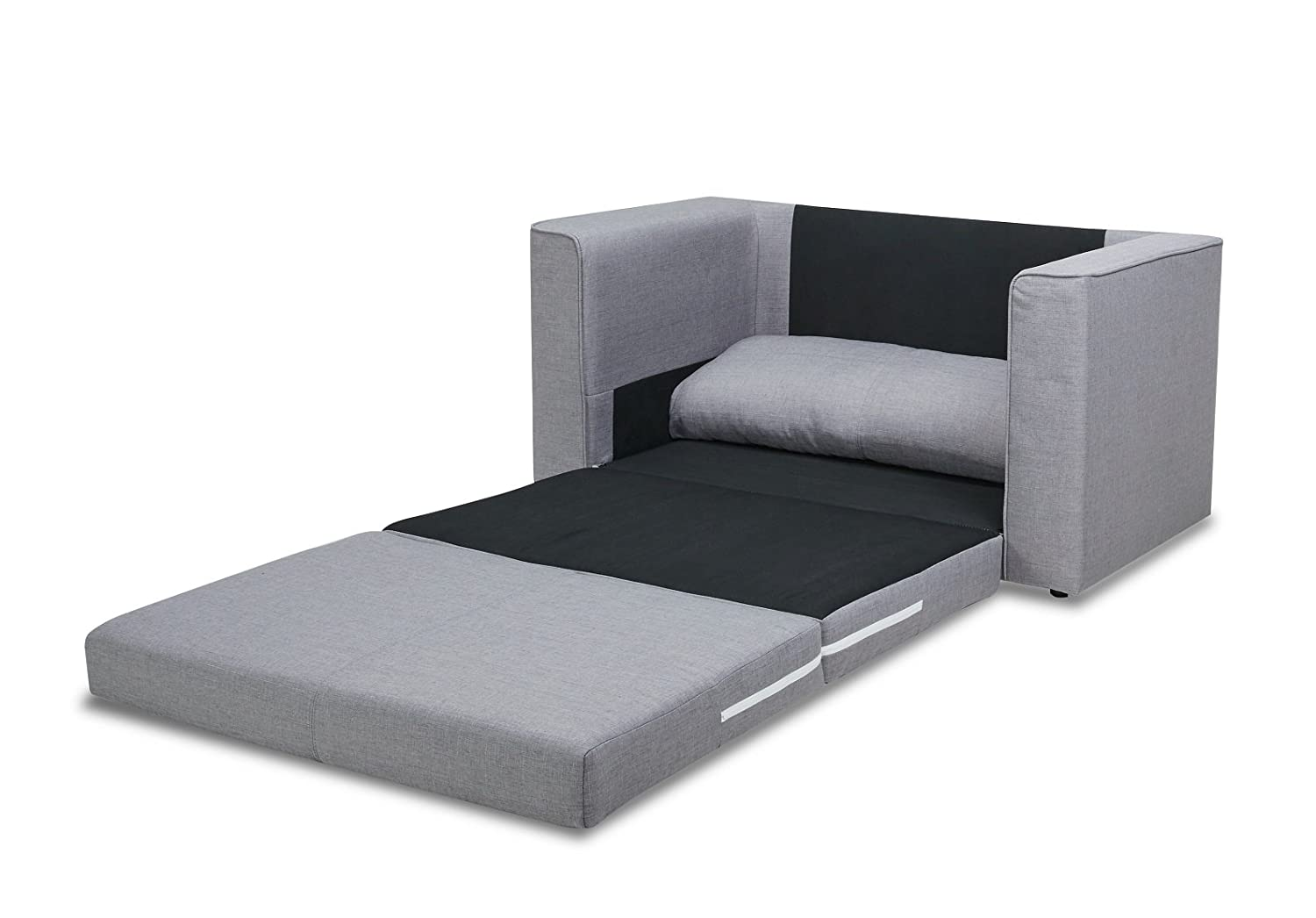 Magnificent Us Pride Furniture Ava Modern Reversible Fabric Loveseat Sofa Bed Grey Home Remodeling Inspirations Gresiscottssportslandcom