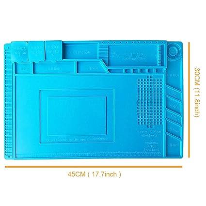 S160 magnético rosca reparación Mat aislamiento de calor almohadilla de silicona alfombrilla de escritorio para BGA