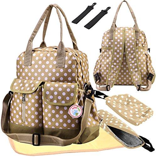 Babyhugs® 6 piezas para chicas con textos saco de dormir 4 way para pañales de para cambiar el color y cambiador para pañales con mochila para cámara de fotos bolsa para raquetas de tenis - diseño de