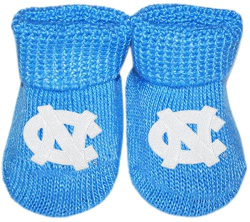 - University of North Carolina Tar Heels Newborn Baby Bootie Sock, Carolina Blue, Newborn